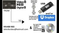 We Convert Hi8 Digital8 Video8 Camcorder Tapes to USB / DVD
