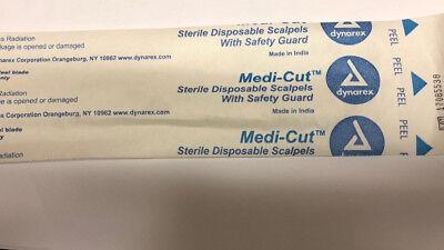 Dynarex Medi-cut Sterile Disposable Scalpels 10 2pack