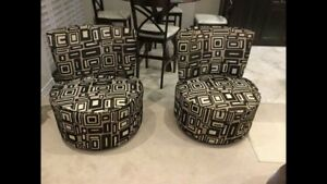 Two Matching Accent Chairs($200 each) in good condition!