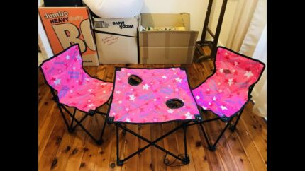 Childs portable fold up table and chairs