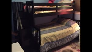 Bunk bed - twin over double with stairs