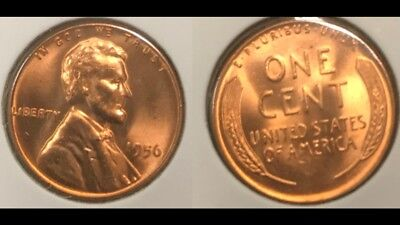 1956 Lincoln Wheat Cent Nice MS/BU RED Lincoln Coin