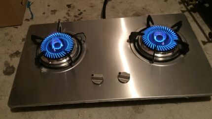 brand new beautiful new style  stainless steel twoburner stove cooktop