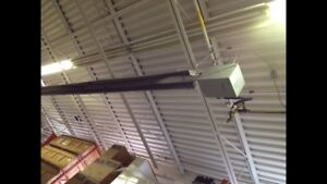 40 ft infrared radiant ceiling space heater natural gas