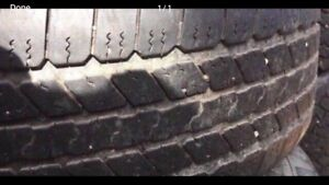 P265/65R18 Goodyear Wrangler SRA. Set of 4.