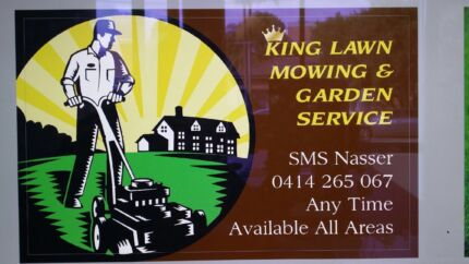 King lawn mowing and garden service