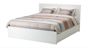 IKEA Malm Double bed frame with 4 storage drawers!!