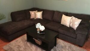 Large dark grey sectional