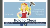 Cleaning services available !!  No job too big or too small.
