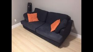 IKEA couch and two chairs