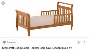 Toddler Bed - Fits Crib Mattress (Not Included)