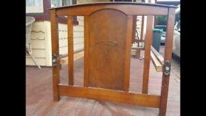 Art Deco vintage single bed