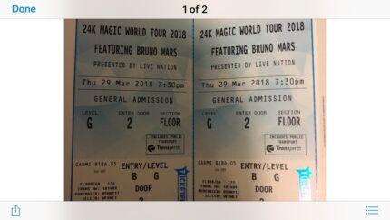 Bruno mars tickets perth arena