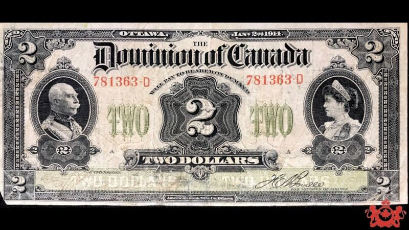 1914 Dominion Of Canada 1$ 781363-D - VF - Small Corner Missing