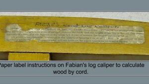 Fabians wood log calculator