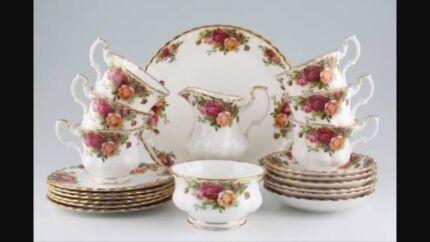 Royal Albert 21 piece tea set.