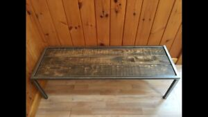 Rustic Industrial Coffee Table/Bench