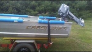 14ft Boat/25h Motor/ and trailer 3600$ or trade.
