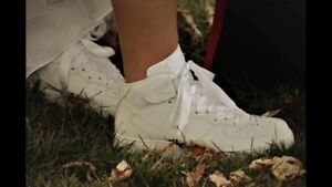 Bedazzled White High Top Nike Sneakers. Size 8.5 ladies