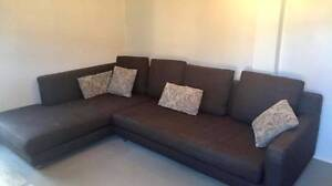 L shaped super comfy couch - brown Cremorne North Sydney Area Preview
