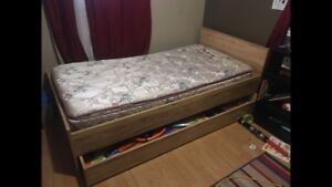 Twin size trundle bed two beds in one