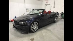 2002 BMW M3 Convertible red leather 6 speed