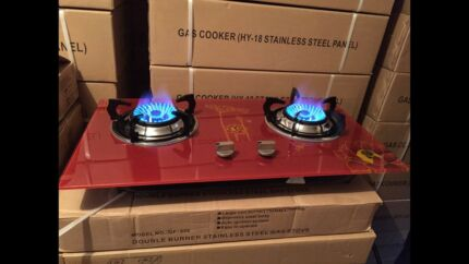 brand new beautiful new style glass top two burner gas stove cooktop