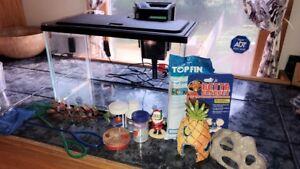 5 Gallon Aquarium - Everything you need for a beta fish