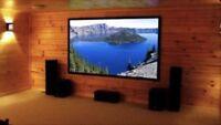 Installation tv ciné maison projecteur