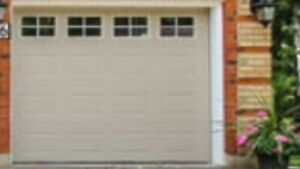Insulated 9x7 garage door with tracks and hardware