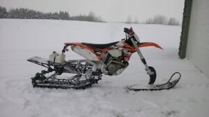 2013 KTM 500 EXC with 2015 Timbersled ST 120""