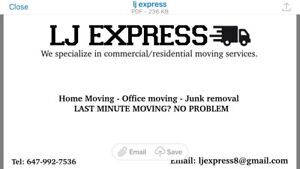 Movers and trucks available