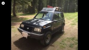 Geo tracker. Great hunting rig. $6100 or trade for Rzr 1000.