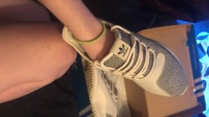 Grey and white adidas women's size 7