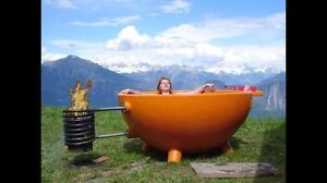 !!MUST SEE!! Fire Powered Hot Tub!