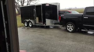 ENCLOSED TRAILER 7X16 DUAL AXEL