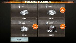 WWE IMMORTALS - ADD 100,000 100K PLATINUM BARS + 30 million coins - iOS Android