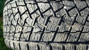 Studded winter tires 245/50R20
