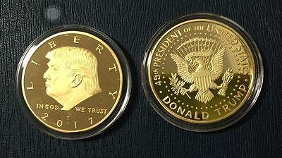 2017 Us President Donald Trump Inaugural Gold Eagle Commemorative Novelty Coin