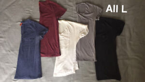 Lot of 5 short-sleeve shirts