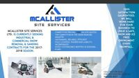 Commercial and industrial snow removal and Saturday