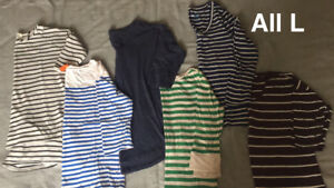 Lot of 5 long-sleeve shirts
