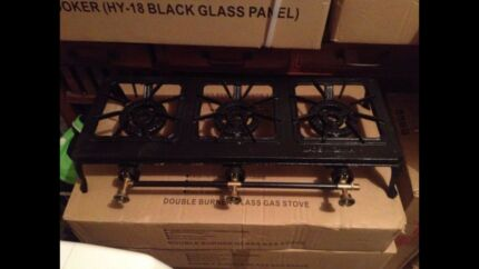 Brand new three burner gas stove cooktop use with LPG gas