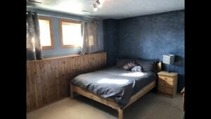 Bedroom with basement to rent