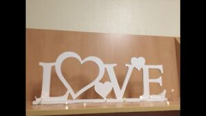 Custom made LOVE sign