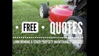 Season lawn mowing