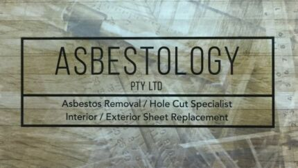 asbestos hole cut service for airconditioning & vents, plus.