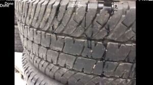 LT275/70R18 Michelin LTX A/T2. Set of four tires.
