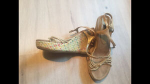 Wedge Sandals. Size 8