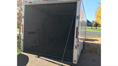 """Rear Screen for Toy Hauler Ramp Door Enclosed Trailer RV Screen 95"""" wide 83 tall"""